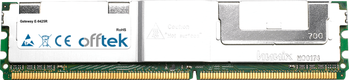 E-9425R 4Go Kit (2x2Go Modules) - 240 Pin 1.8v DDR2 PC2-5300 ECC FB Dimm