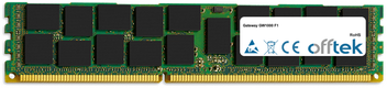 GW1000 F1 16Go Module - 240 Pin 1.5v DDR3 PC3-8500 ECC Registered Dimm (Quad Rank)