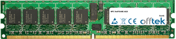 NetFRAME 4620 4Go Kit (2x2Go Modules) - 240 Pin 1.8v DDR2 PC2-5300 ECC Registered Dimm (Single Rank)