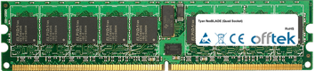 FlexBLADE (Quad Socket) 8Go Kit (2x4Go Modules) - 240 Pin 1.8v DDR2 PC2-5300 ECC Registered Dimm (Dual Rank)