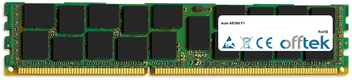 AR360 F1 16Go Module - 240 Pin 1.5v DDR3 PC3-8500 ECC Registered Dimm (Quad Rank)