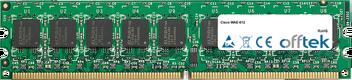 WAE-612 1Go Module - 240 Pin 1.8v DDR2 PC2-4200 ECC Dimm (Dual Rank)
