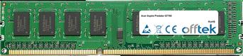 Aspire Predator G7760 8Go Module - 240 Pin 1.5v DDR3 PC3-10600 Non-ECC Dimm