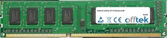 Fatal1ty Z77 Professional-M 8Go Module - 240 Pin 1.5v DDR3 PC3-10600 Non-ECC Dimm