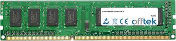 Predator G3-605-UR39 8Go Module - 240 Pin 1.5v DDR3 PC3-12800 Non-ECC Dimm