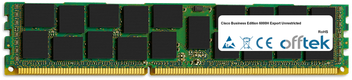 Business Edition 6000H Export Unrestricted 32Go Module - 240 Pin 1.5v DDR3 PC3-12800 ECC Registered Dimm