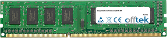 Pure Platinum Z87A-MA 8Go Module - 240 Pin 1.5v DDR3 PC3-12800 Non-ECC Dimm