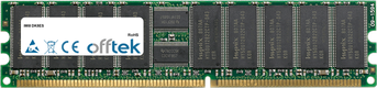 DK8ES 4Go Kit (2x2Go Modules) - 184 Pin 2.5v DDR266 ECC Registered Dimm (Dual Rank)