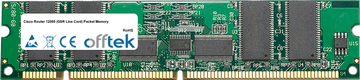 Router 12000 (GSR Line Carte) Packet Memory 512Mo Kit (4x128Mo Modules) - 168 Pin 3.3v PC133 ECC Registered SDRAM Dimm