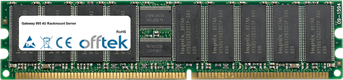 995 4U Rackmount Server 2Go Module - 184 Pin 2.5v DDR266 ECC Registered Dimm (Dual Rank)