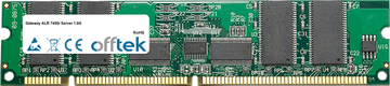 ALR 7450r Server 1.0G 512Mo Module - 168 Pin 3.3v PC133 ECC Registered SDRAM Dimm