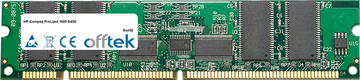 ProLiant 1600 6/450 256Mo Module - 168 Pin 3.3v PC100 ECC Registered SDRAM Dimm