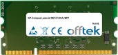 LaserJet M2727nf/nfs MFP 256Mo Module - 144 Pin 1.8v DDR2 PC2-3200 SoDimm