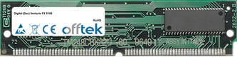 Venturis FX 5100 64Mo Kit (2x32Mo Modules) - 72 Pin 5v EDO Non-Parity Simm