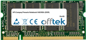 Presario Notebook V4035EA (DDR) 1Go Module - 200 Pin 2.5v DDR PC333 SoDimm