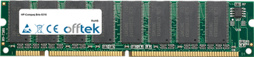 Brio 8316 64Mo Module - 168 Pin 3.3v PC100 SDRAM Dimm