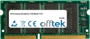 OmniBook 7100 Model 7101 128Mo Module - 144 Pin 3.3v PC66 SDRAM SoDimm