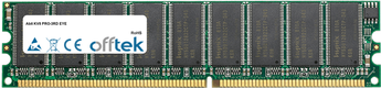 KV8 PRO-3RD EYE 512Mo Module - 184 Pin 2.6v DDR400 ECC Dimm (Single Rank)