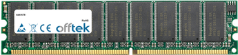AT8 1Go Module - 184 Pin 2.6v DDR400 ECC Dimm (Dual Rank)