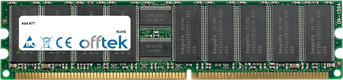 AT7 512Mo Module - 184 Pin 2.5v DDR333 ECC Registered Dimm (Single Rank)