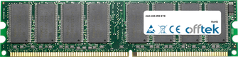 AS8-3RD EYE 256Mo Module - 184 Pin 2.6v DDR400 Non-ECC Dimm