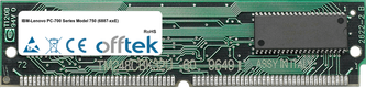 PC-700 Séries Model 750 (6887-xxE) 64Mo Kit (2x32Mo Modules) - 72 Pin 5v EDO Non-Parity Simm