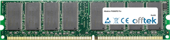 PX865PE Pro 1Go Module - 184 Pin 2.6v DDR400 Non-ECC Dimm