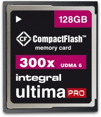 Integral Ultima-Pro Compact Flash 300X 128GB Carte