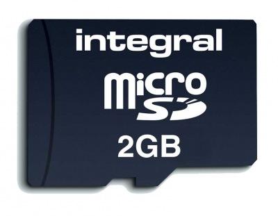 Integral Transflash/Micro SD Carte (avec Adaptateur) 2GB Carte