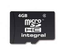 Integral Micro SDHC (Sans Adaptateur) 4GB Carte (Class 4)