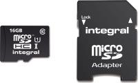 Integral Micro SDHC (avec Adaptateur)  16GB Carte