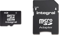 Integral Micro SDHC (avec Adaptateur) 4GB Carte (Class 4)