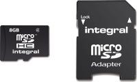 Integral Micro SDHC (avec Adaptateur) 8GB Carte (Class 4)
