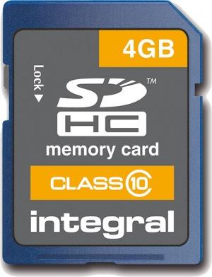 Integral SDHC Carte (Class 10) 4GB Carte (Class 10)