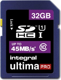 Integral SDHC 32GB Carte (Class 10 - 45MB/s)