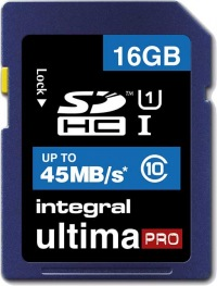 Integral SDHC 16GB Carte (Class10 - 45MB/s)