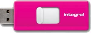Integral Slide USB Lecteur 8GB (Pink)