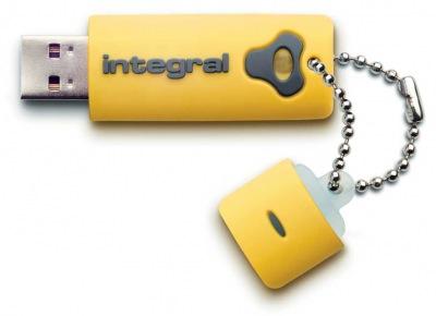 Integral Splash Lecteur 16GB Lecteur (Yellow)