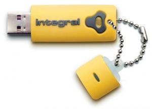 Integral Splash Lecteur 8GB Lecteur (Yellow)