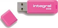 Integral Neon USB Lecteur 8GB Lecteur (Pink)