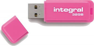 Integral Neon USB Lecteur 32GB Lecteur (Pink)