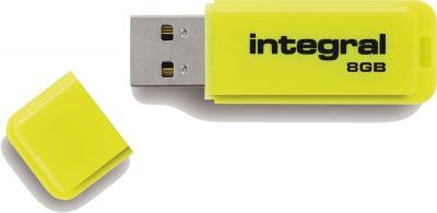Integral Neon USB Lecteur 8GB Lecteur (Yellow)