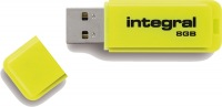 Integral Neon USB Lecteur 8GB Lecteur (Yellow)