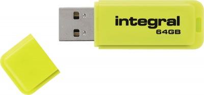 Integral Neon USB Lecteur 64GB Lecteur (Yellow)
