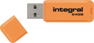 Integral Neon USB Lecteur 64GB Lecteur (Orange)