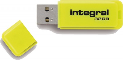 Integral Neon USB Lecteur 32GB Lecteur (Yellow)