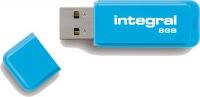 Integral Neon USB Lecteur 8GB Lecteur (Blue)