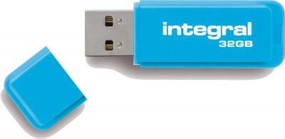 Integral Neon USB Lecteur 32GB Lecteur (Blue)