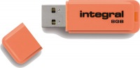 Integral Neon USB Lecteur 8GB Lecteur (Orange)