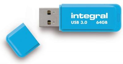 Integral Neon USB 3.0 Flash Lecteur 64GB Lecteur (Blue)